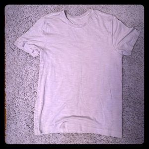 Men's Light Grey Lululemon Surge T-Shirt (M)
